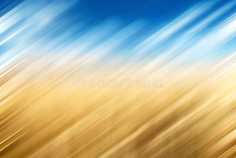 Concept de vacances d'été : Bleu brouillé abstrait, fond jaune photographie stock libre de droits