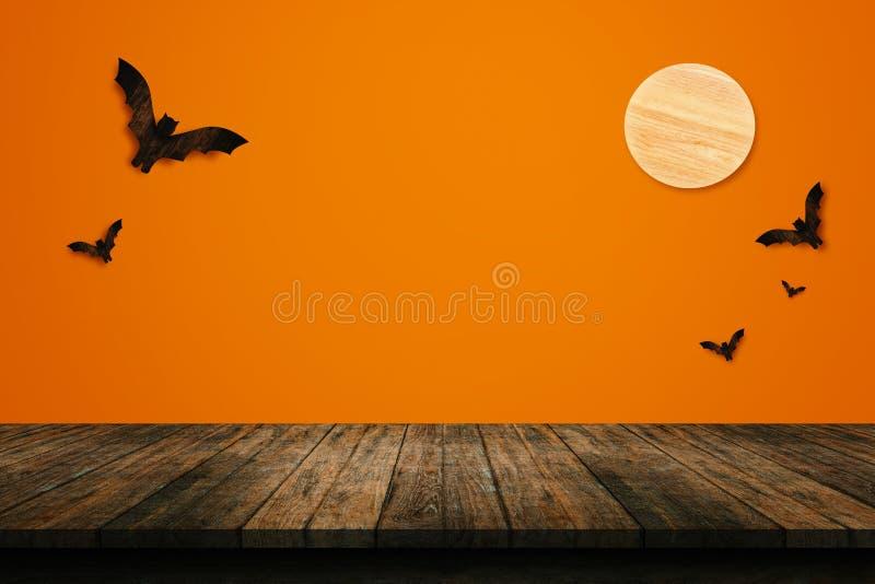 Concept de vacances de Halloween Étagère en bois vide photos libres de droits