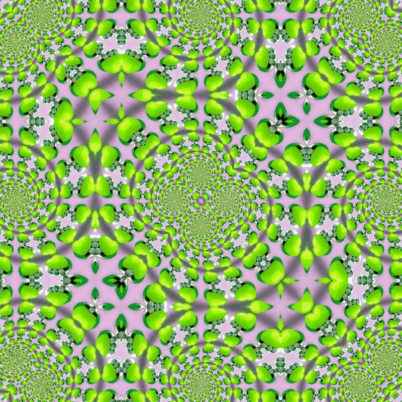 Concept de vacances de Pâques avec les pommes vertes Texture de fond d'herbe de ressort de nature dans la tuile verte illustration stock