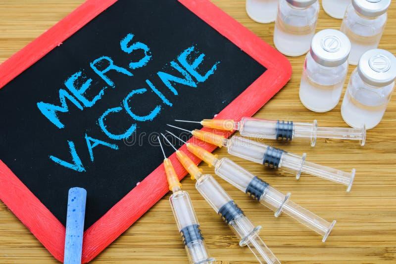 Concept de vaccination de MERS-Cov photo libre de droits