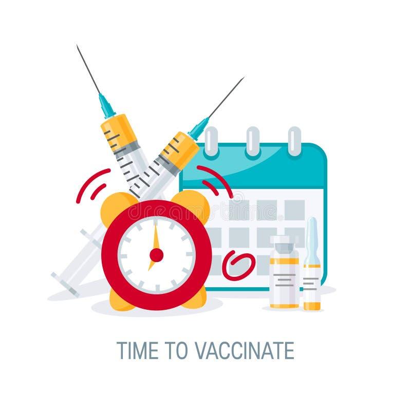 Concept de vaccination, image de vecteur dans le style plat illustration de vecteur