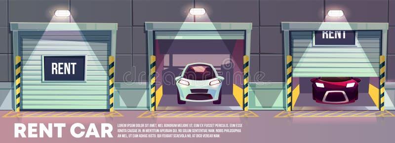 Concept de vecteur de bande dessinée de service de voiture de location illustration libre de droits
