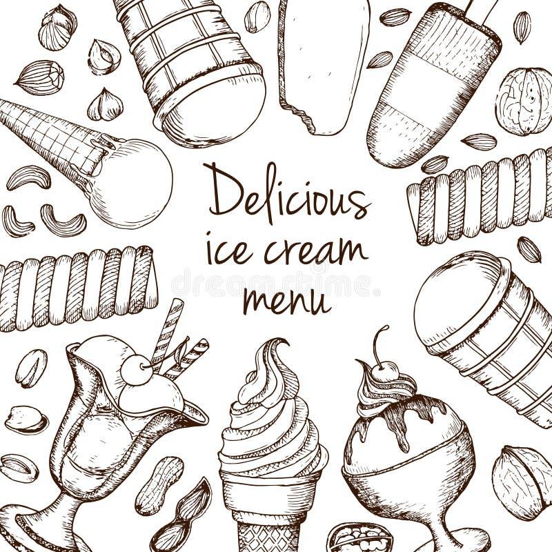 Concept de vecteur de crème glacée  illustration stock