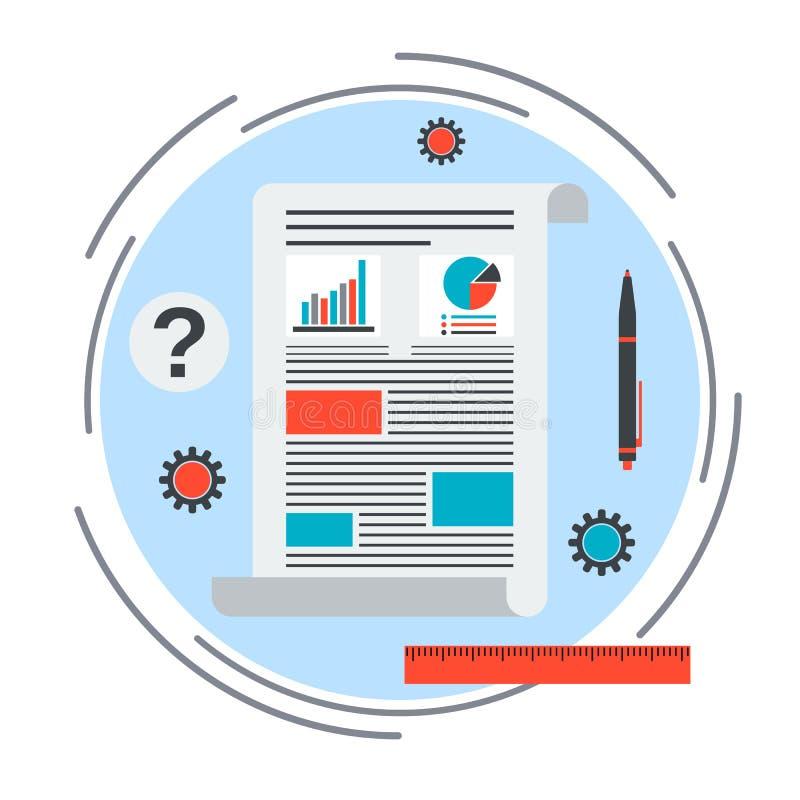 Concept de vecteur de graphique de gestion illustration stock