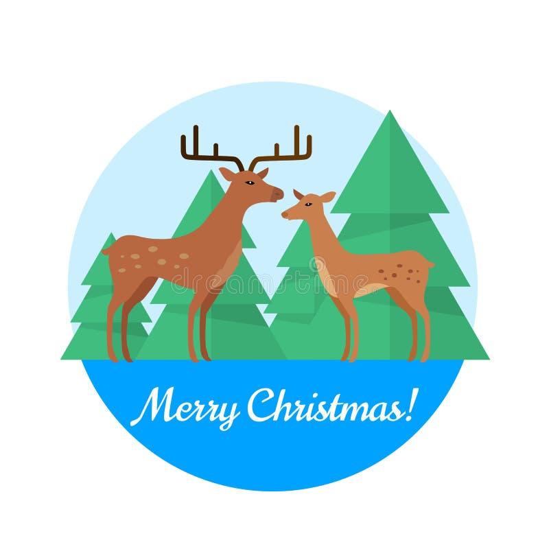 Concept de vecteur de Joyeux Noël dans la conception plate illustration de vecteur