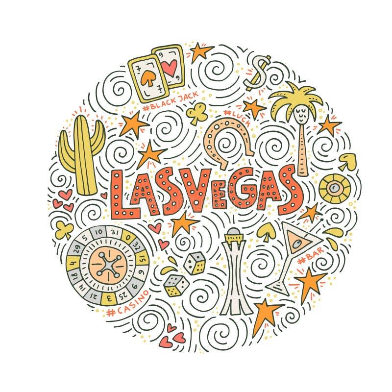 Concept de vecteur de Las Vegas illustration libre de droits