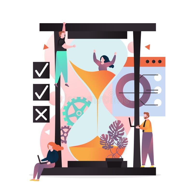 Concept de vecteur de gestion du temps pour la banni?re de Web, page de site Web illustration stock