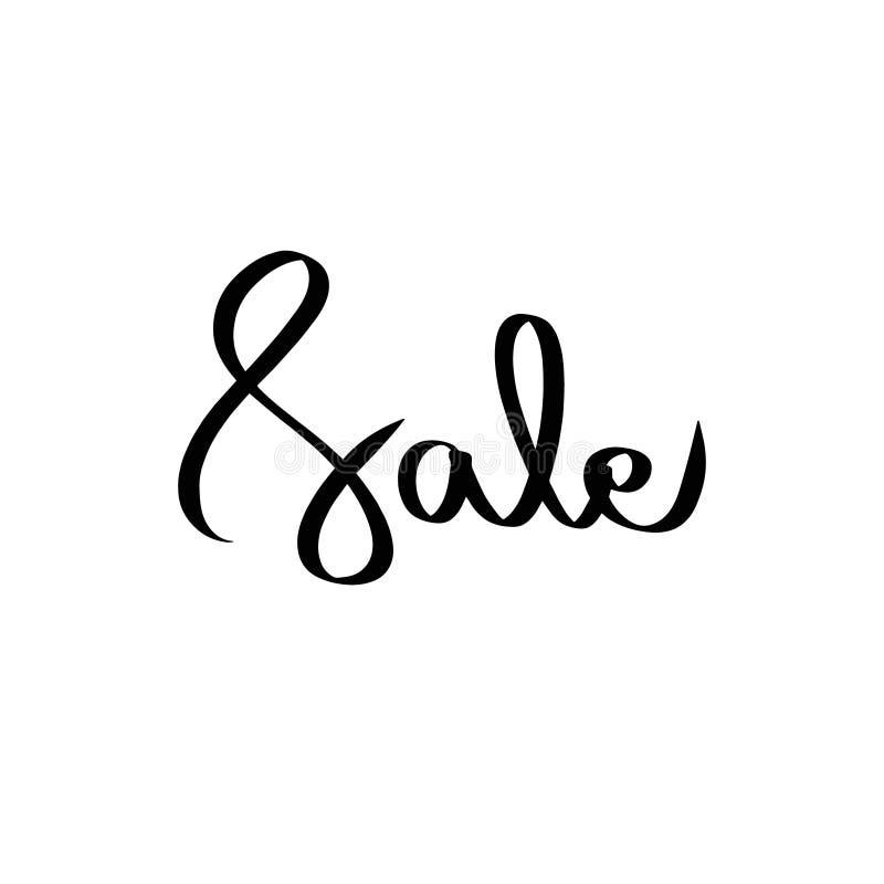 Concept de vecteur de noir de vente Inscription de la bannière de achat sur le fond blanc Offre de vente de saison Abrégé sur mod illustration libre de droits