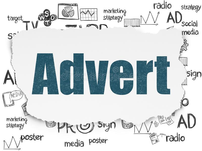 Concept de vente : Annonce sur le fond de papier déchiré illustration libre de droits