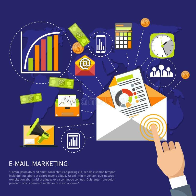 Concept de vente d'email illustration libre de droits