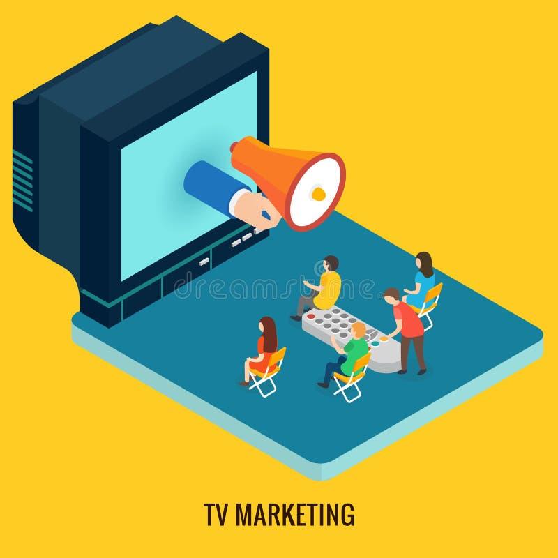 Concept de vente de TV illustration de vecteur