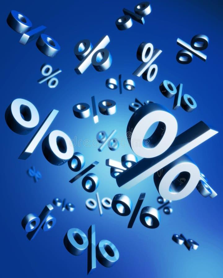 Concept de ventes de pourcentage illustration de vecteur