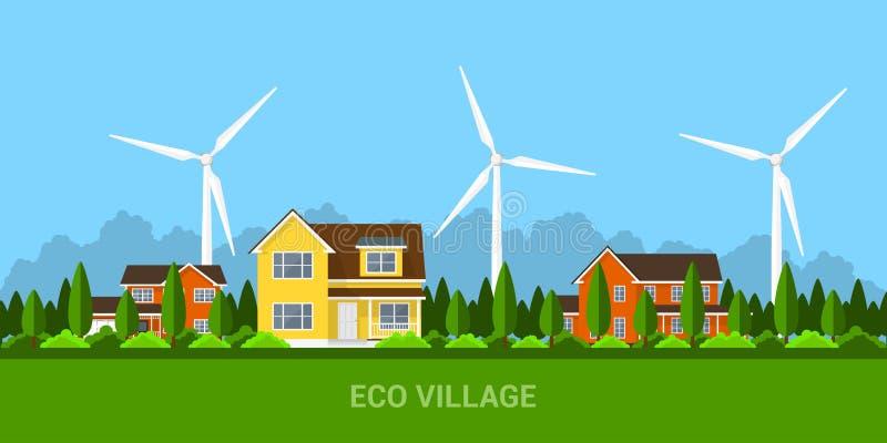 Concept de village d'Eco illustration libre de droits