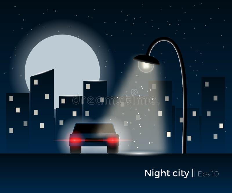 Concept de ville de nuit illustration libre de droits