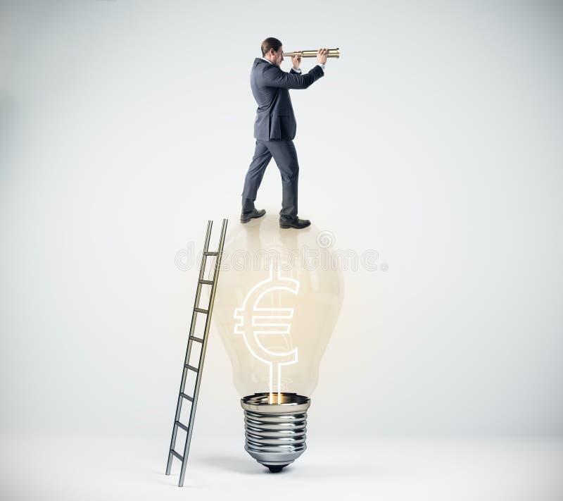 Concept de vision, de croissance et d'idée illustration de vecteur