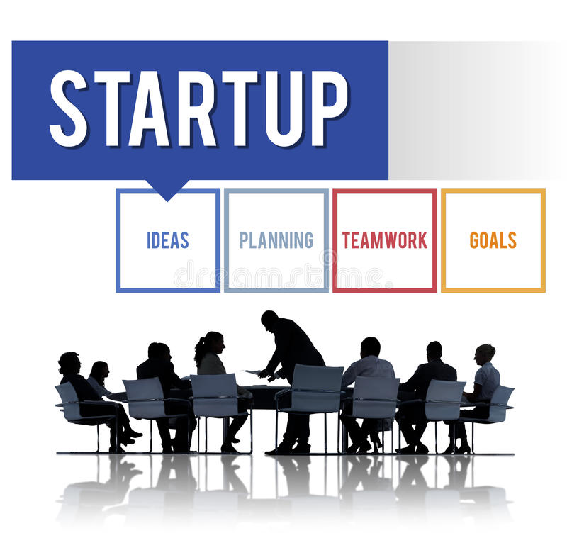 Concept de vision d'entreprise de développement de jeune entreprise photos stock