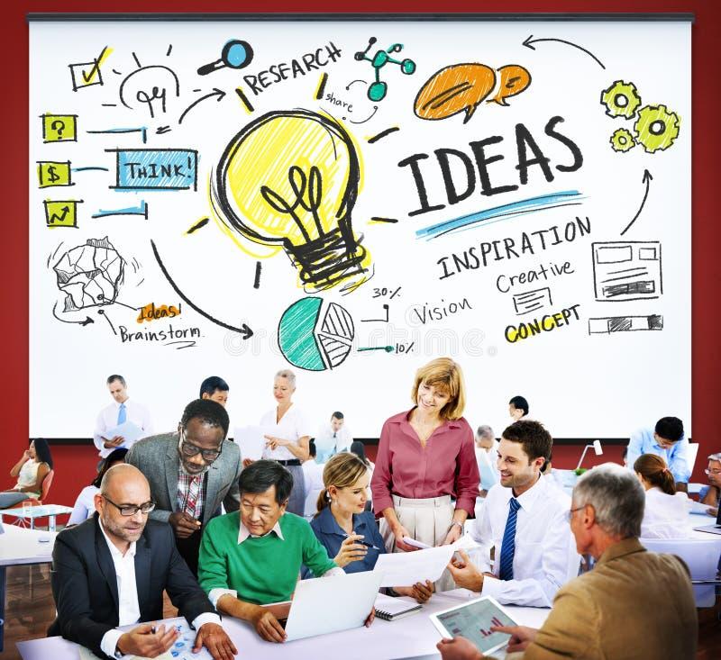 Concept de vision d'inspiration de la connaissance de créativité d'innovation d'idées photographie stock libre de droits