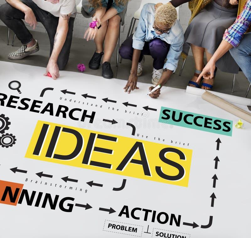 Concept de vision de suggestion de stratégie de proposition d'idées image stock