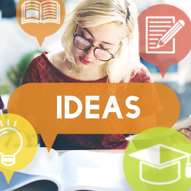 Concept de vision de suggestion de stratégie de proposition d'idées images libres de droits