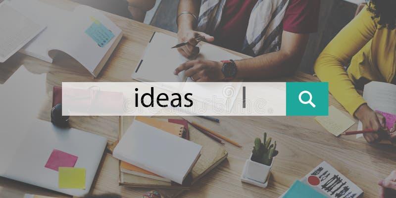 Concept de vision de suggestion de stratégie de proposition d'idées photo stock