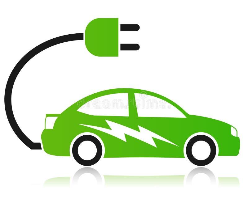 Concept de voiture électrique illustration de vecteur