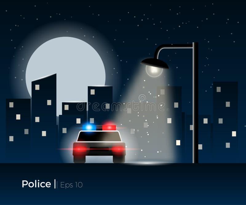 Concept de voiture de police illustration de vecteur