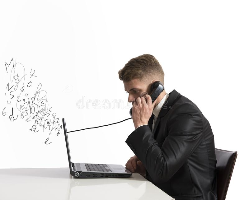 Téléphone et voix au-dessus d'IP photographie stock libre de droits