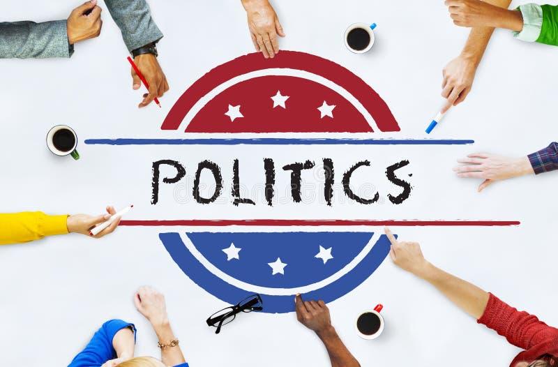 Concept de vote de démocratie de référendum de gouvernement de la politique images stock