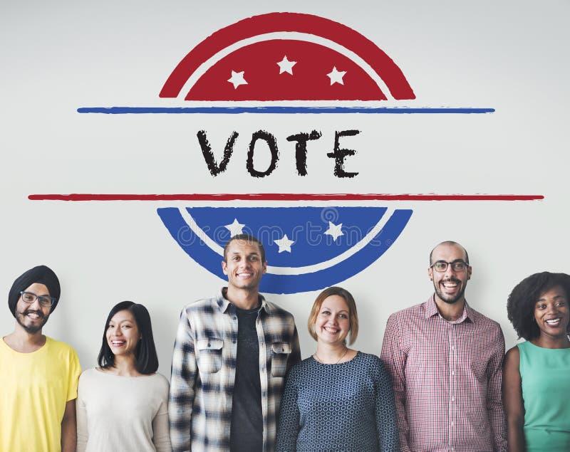 Concept de vote de démocratie de référendum de gouvernement de la politique photos libres de droits