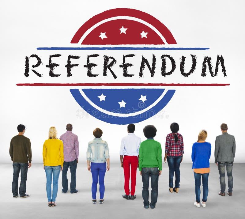 Concept de vote de démocratie de référendum de gouvernement de la politique photographie stock libre de droits