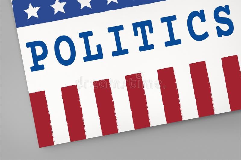 Concept de vote de démocratie de référendum de gouvernement de la politique illustration stock