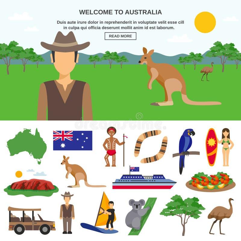 Concept de voyage d'Australie illustration libre de droits