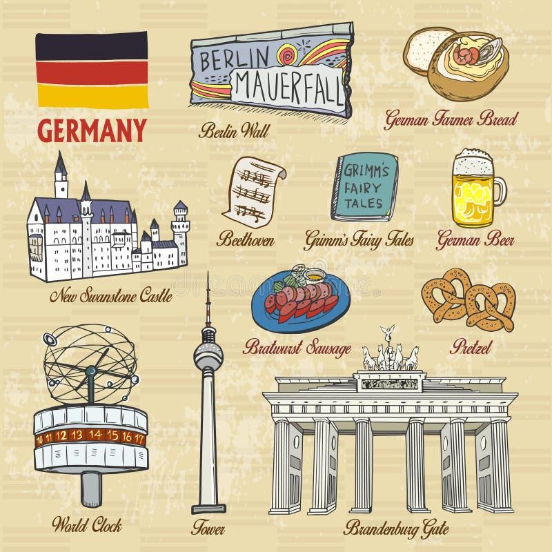 Concept de voyage de l'Allemagne illustration de vecteur