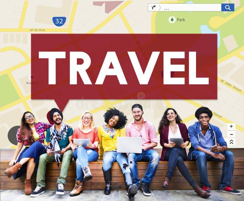 Concept de voyage de vacances de voyage de destination de voyage images stock