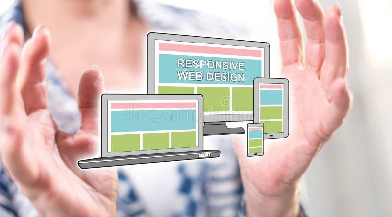 Concept de web design sensible image stock
