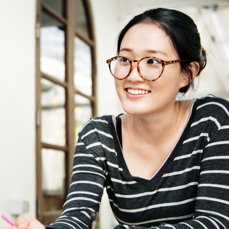 Concept de Woman Asian Ethnicity d'étudiant photographie stock