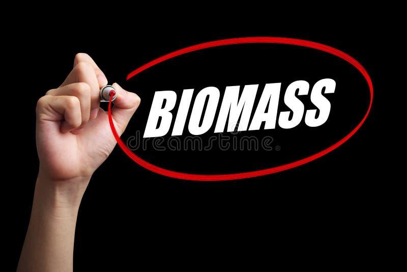 Concept de Word de biomasse photographie stock libre de droits