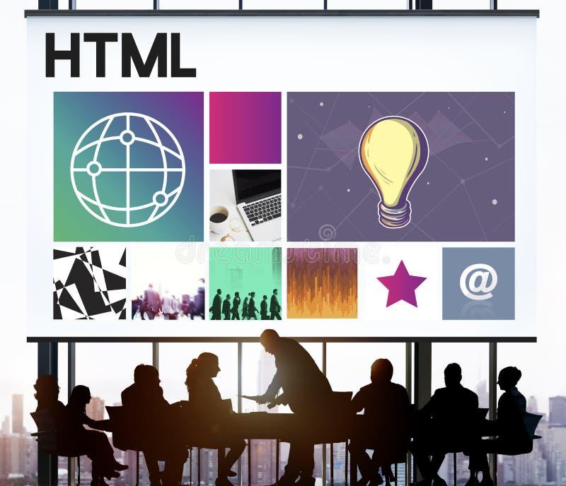 Concept de WWW de media de logiciel de la conception UI de site Web image stock