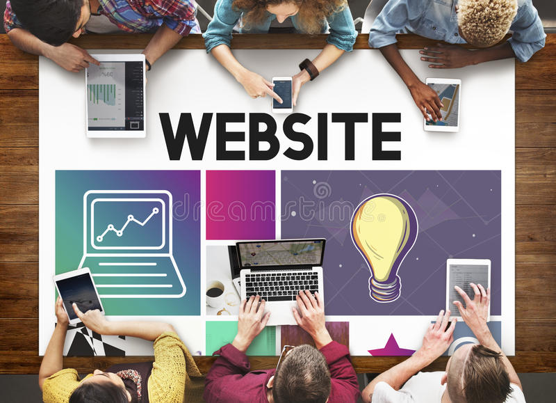 Concept de WWW de media de logiciel de la conception UI de site Web image libre de droits
