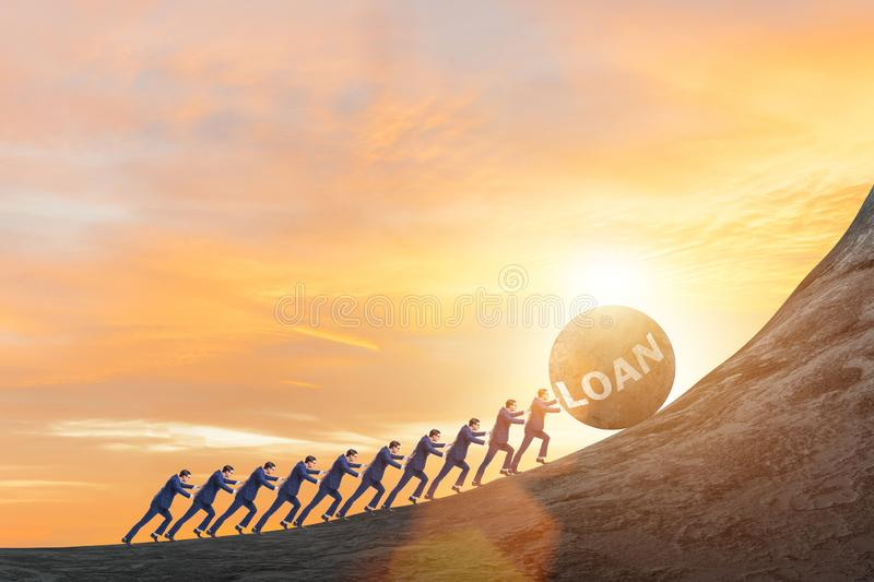 Concept of debt and loan stock photography