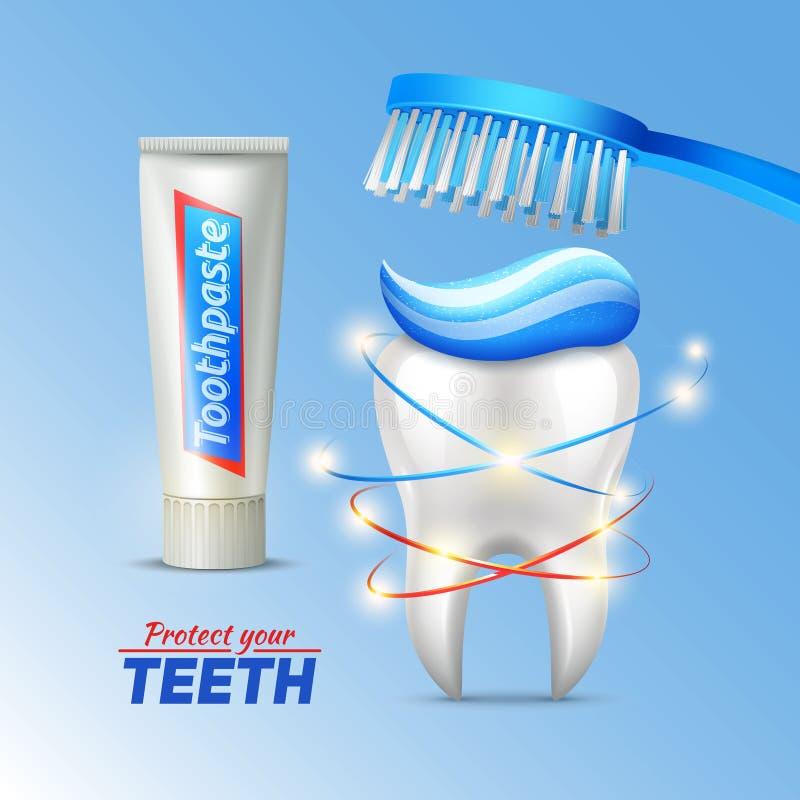 Concept dentaire de la protection de dents illustration de vecteur