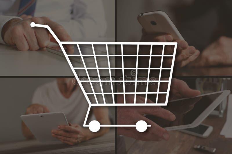 Concept des achats en ligne photo libre de droits