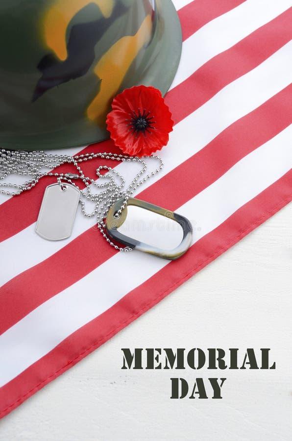 Concept des Etats-Unis Memorial Day image libre de droits