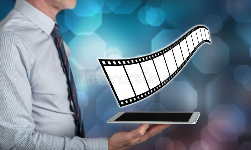 Concept des films, de la vidéo et du cinéma photos libres de droits