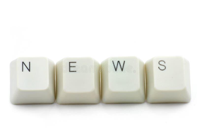 Concept des medias de nouvelles en ligne images libres de droits