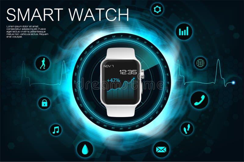 Concept des montres intelligentes illustration libre de droits
