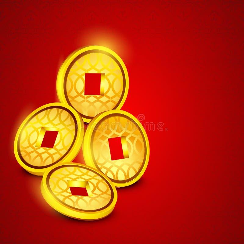 Concept des pièces de monnaie chinoises illustration libre de droits