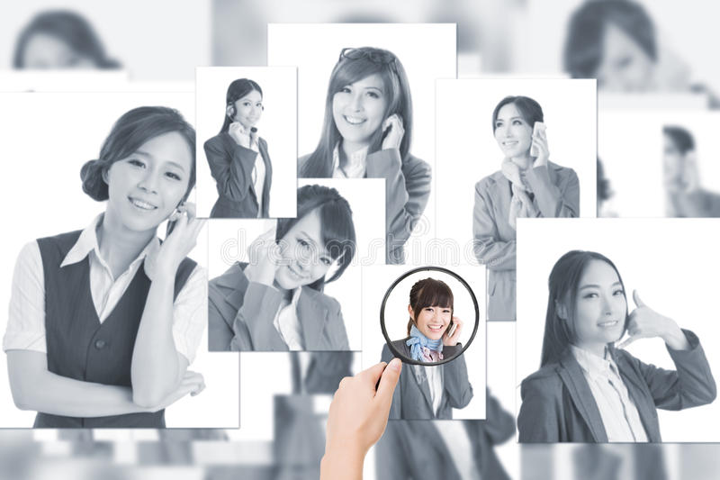 Concept des ressources humaines photo stock