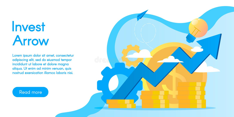 Concept des services d'investissement, illustration de vecteur dans la conception plate photos stock