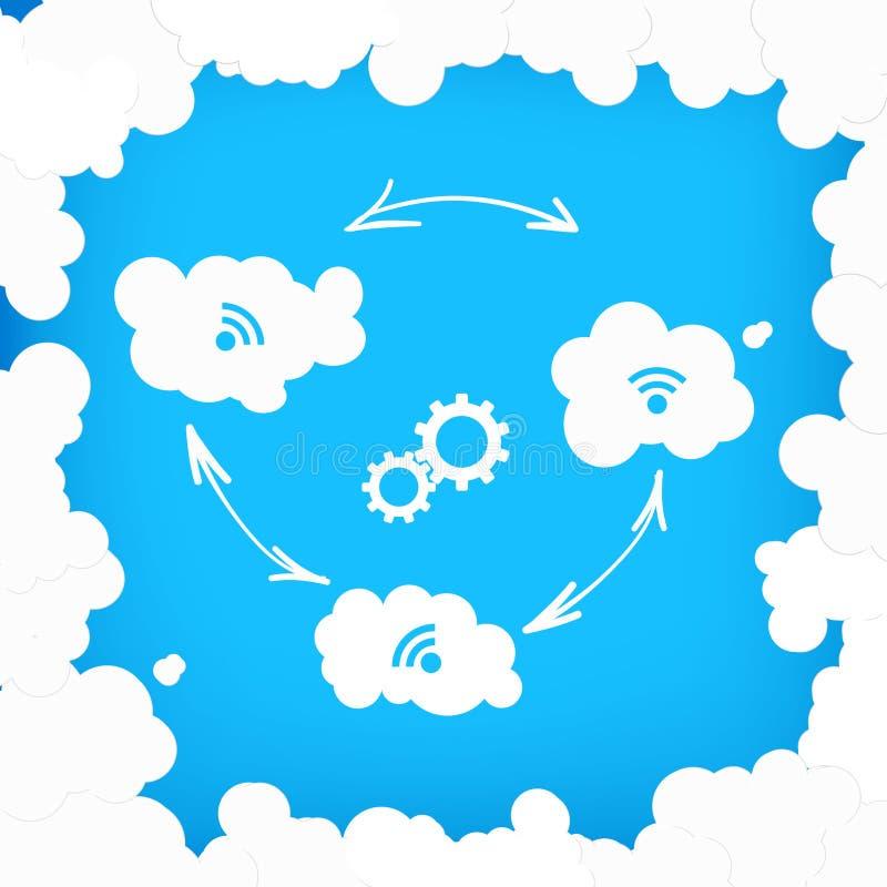 Concept des technologies modernes de nuage illustration stock